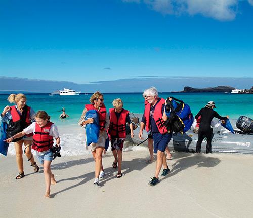 Example Galapagos wet landing