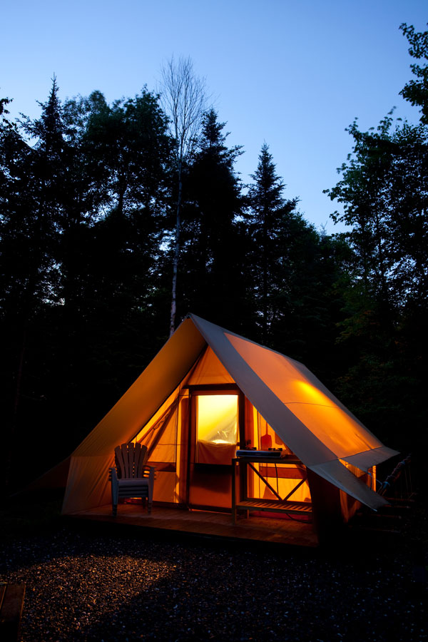 Bic huttopia camp holiday accommodation in canada north for Camping bic