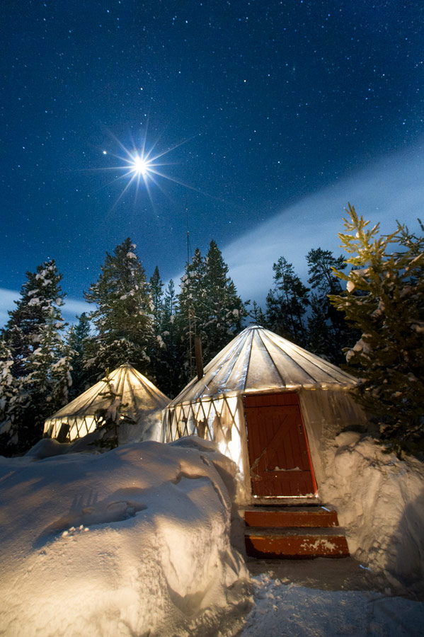 Yellowstone Expeditions Yurt Camp holiday accommodation in